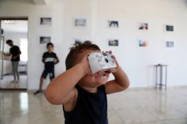 Köy çocuklarının çektiği fotoğrafların sergisi açıldı